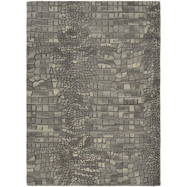 Noell Hand-Woven Wool Graystone Area Rug by Bloomsbury Market