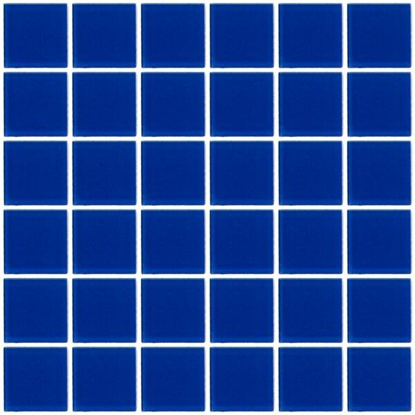 Bijou 22 2 x 2 Glass Mosaic Tile in Blue by Susan Jablon