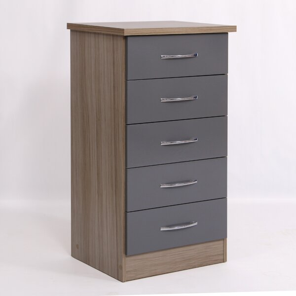 Amiens Narrow 5 Drawer Chest by Latitude Run