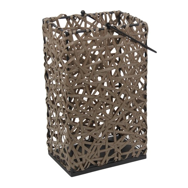 Wicker TableTop Lantern by Rosecliff Heights