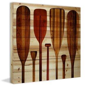 'Paddles' by Parvez Taj Graphic Art Print on Wood by Loon Peak