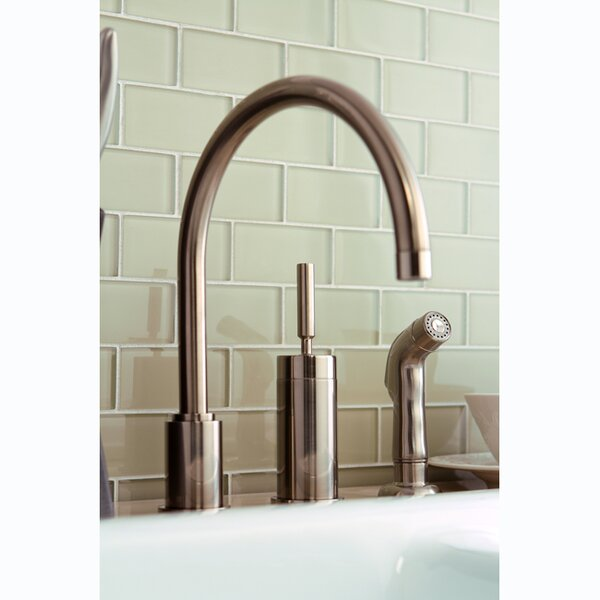Concord Single Lever Widespread Kitchen Faucet with Sprayer by Kingston Brass