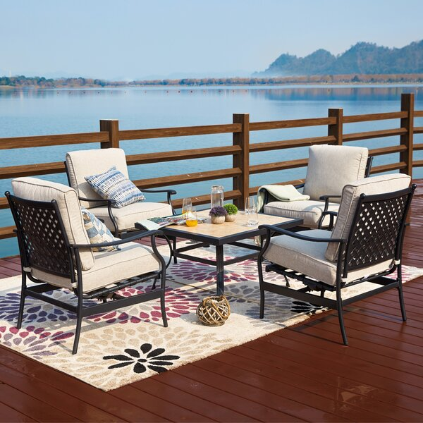 Boman 5 Piece Seating Group with Cushions by Darby Home Co