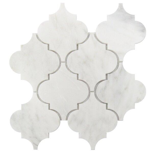 Arabesque 5 x 6 Marble Mosaic Tile