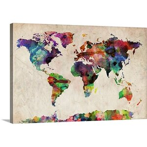 World Maps by Michael Tompsett Gallery Graphic Art Print on Wrapped Canvas by Great Big Canvas