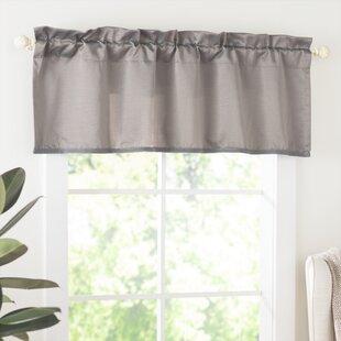 Grey Silver Valances Kitchen Curtains