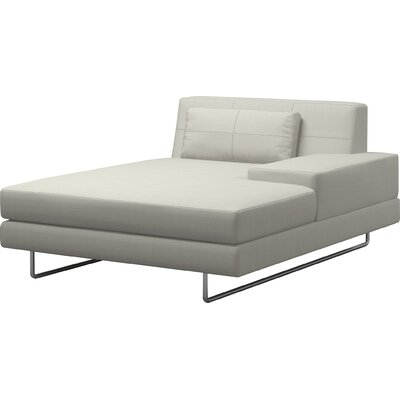 Hamlin Chaise Lounge TrueModern Body Fabric: Klein Laguna, Orientation: Right Hand Facing