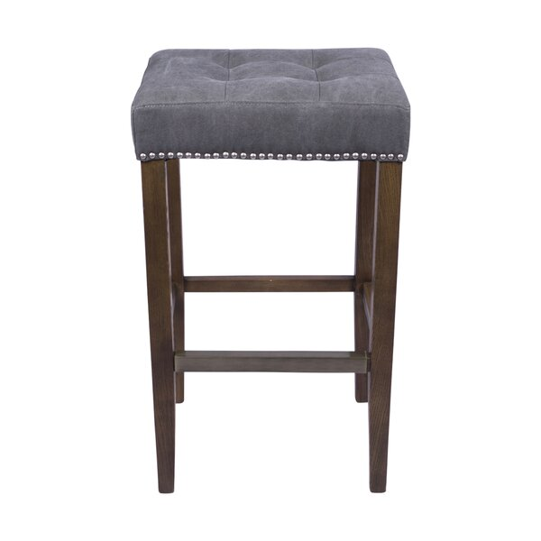 Bukovice 30 Rustic Square Bar Stool by Latitude Run