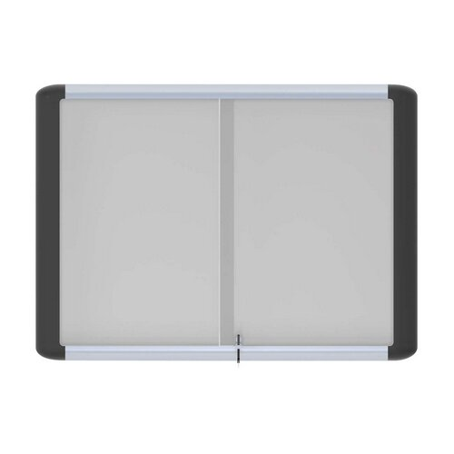 Enclosed Cabinet Whiteboard, 52.6 x 40.7 by Bi-silque Visual Communication Product, Inc.