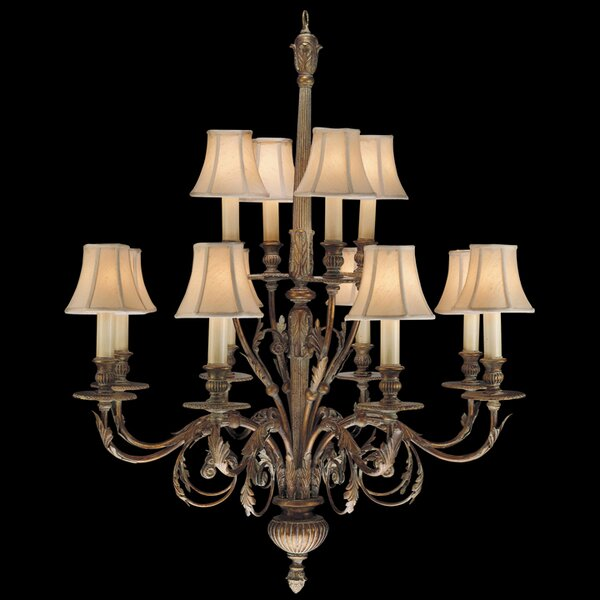 Verona 12-Light Shaded Chandelier by Fine Art Lamps