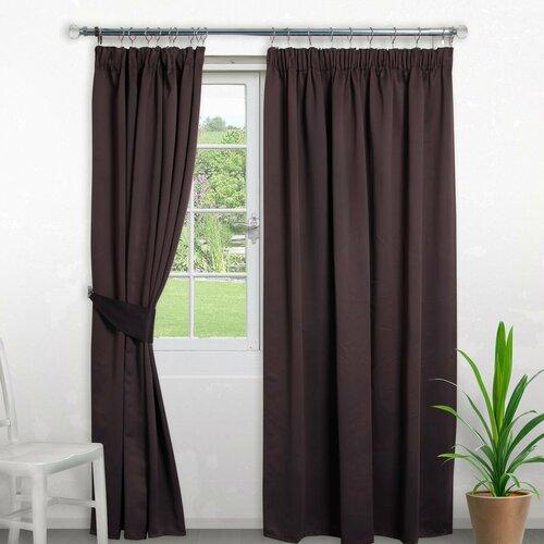 Pencil Pleat Blackout Thermal Curtain Symple Stuff Colour: C