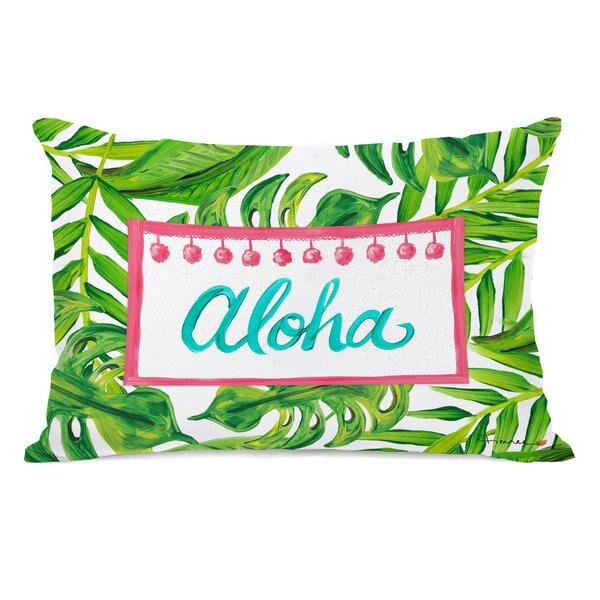 Worthing Tropical Aloha Lumbar Pillow by Bay Isle Home