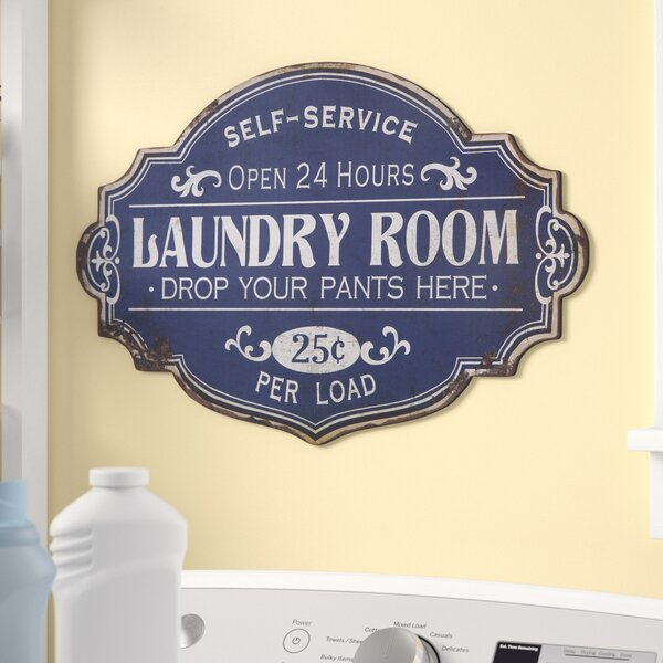 Metal Laundry Room Wall Décor by Winston Porter