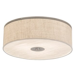 Reviews Luyster 3-Light Outdoor Flush Mount By Rosecliff Heights