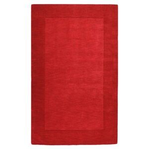 Bradley Hand Woven Red Area Rug