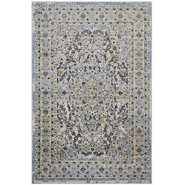 Prevost Ornate Vintage Floral Turkish Blue/Cream Area Rug by Astoria Grand