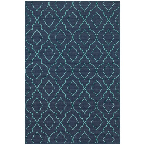 Kailani Navy/Blue Indoor/Outdoor Area Rug by Beachcrest Home