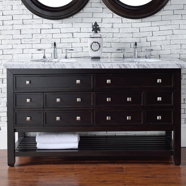 Kramer 60 Double Espresso Oak Bathroom Vanity Set by Darby Home Co
