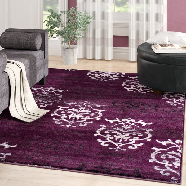 Fitchett Lilac/Plum Area Rug by Andover Mills