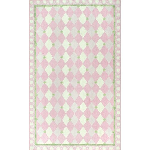 Hand-Hooked Pink Kids Rug by The Conestoga Trading Co.