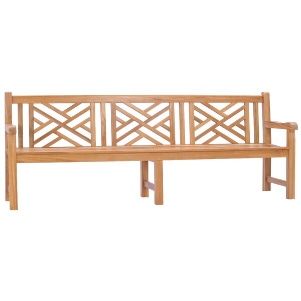 Cade Chippendale Teak Garden Bench by Foundry Select