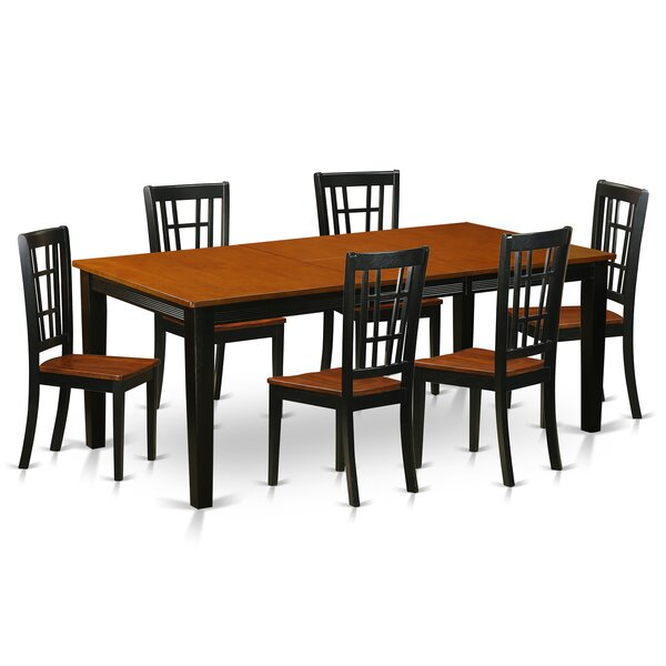 Pilger Contemporary 7 Piece Dining Set by August Grove