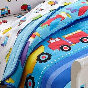 Beau Olive Kids Trains, Planes And Trucks Toddler Comforter