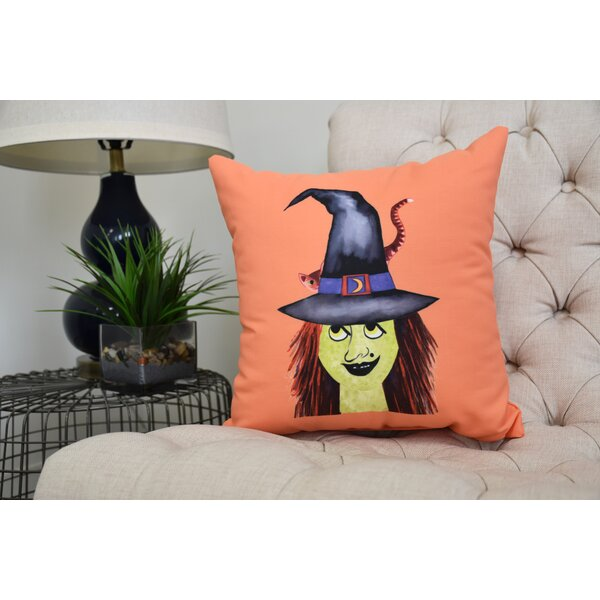 Maser Hat Halloween Throw Pillow by The Holiday Aisle