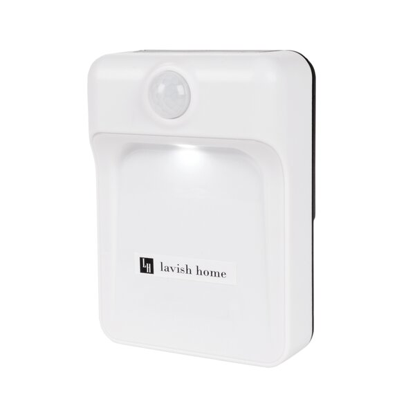Motion Sensor 1-Light LED Flush Mount by Symple Stuff