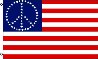 Peace USA (Stars) Traditional Flag by Flags Importer