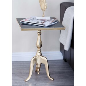 Aluminum/Marble Square End Table by Cole & G..