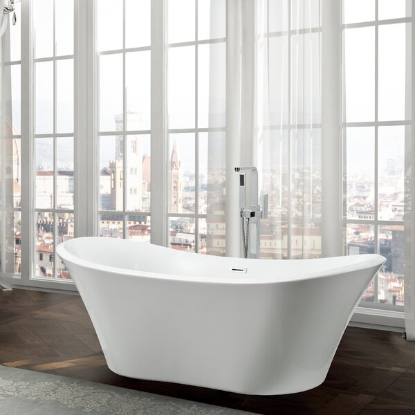 Ancona 71 x 31.5 Freestanding Soaking Bathtub by Bellaterra Home
