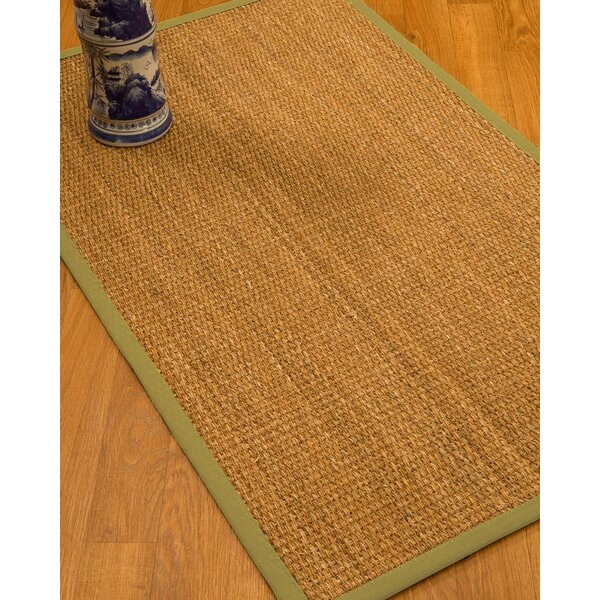 Kimberwood Border Hand-Woven Brown/Green Area Rug by Bay Isle Home