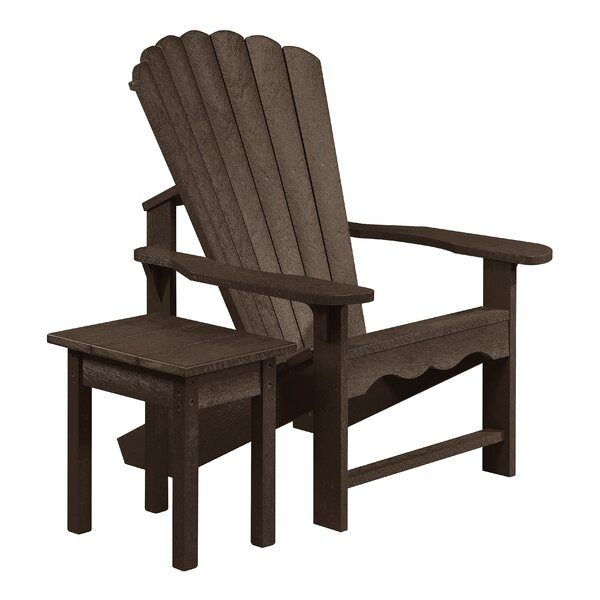 Zander Plastic Adirondack Chair with Table by Beachcrest Home