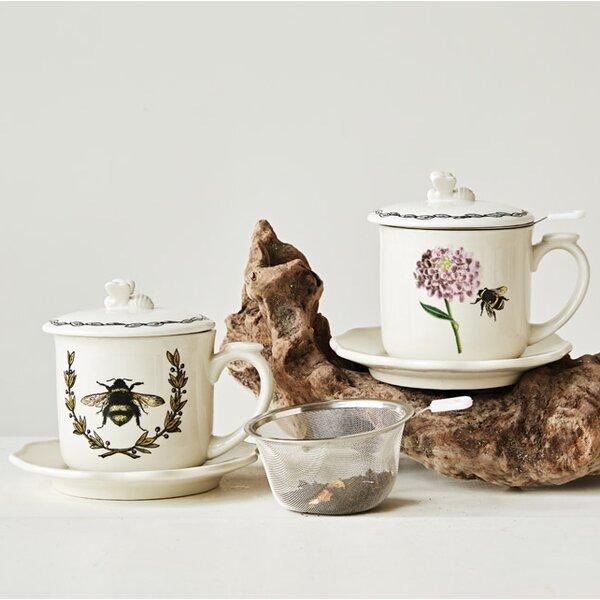 Knepp Stonenware 2 Piece Teacup/Saucer by Ophelia & Co.