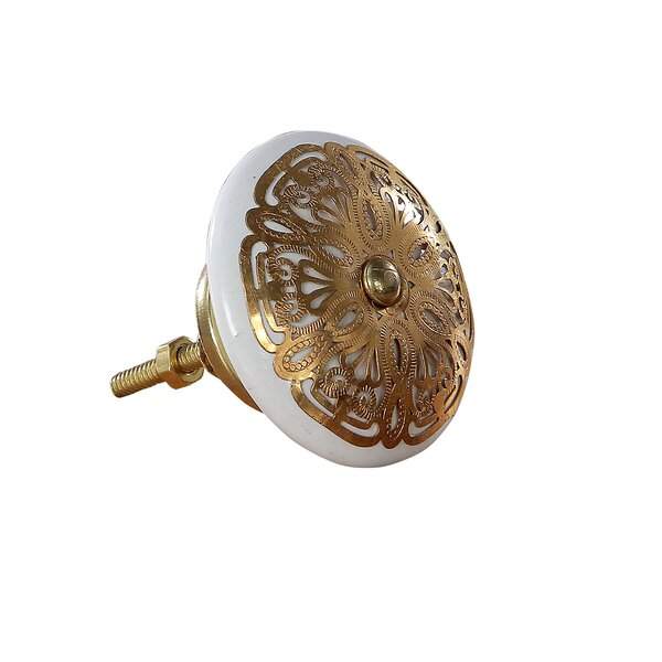 Cabana Ornate Mushroom Knob (Set of 4) by Intrade Global