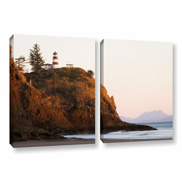 Lighthouse by Cody York 2 Piece Photographic Print on Wrapped Canvas Set by ArtWall