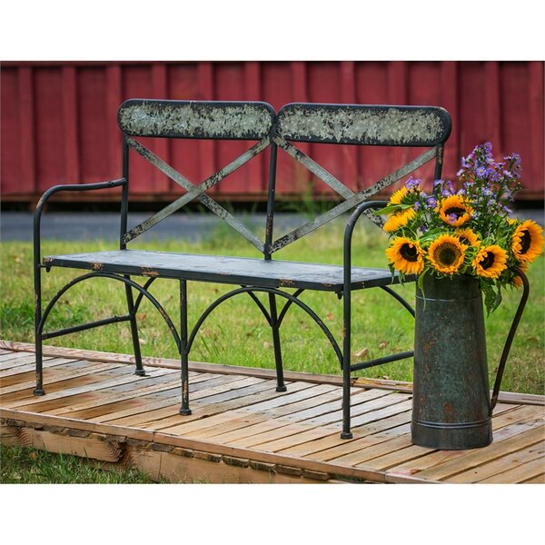 Tilsworth Galvanized Metal Garden Bench by Gracie Oaks