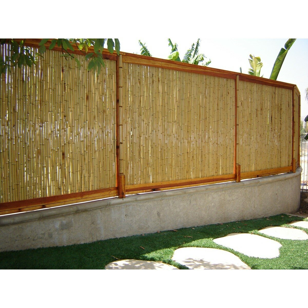 Backyard X Scapes 8 Ft W Rolled Bamboo Fence Panel