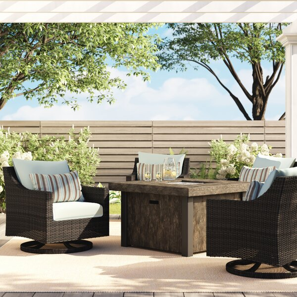 Northridge 5 Piece Multiple Chairs Seating Group with Cushions by Three Posts