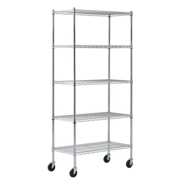 Mobile 5 Shelf Wire Shelving by Sandusky Cabinets
