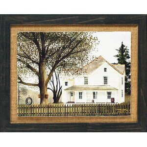 'Grandma's House Primitive Country Farm Landscape' by Billy Jacobs Framed Graphic Art by Artistic Reflections