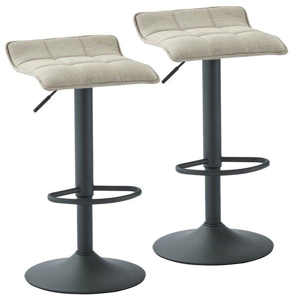 Ean Adjustable Height Swivel Bar Stool (Set of 2) by Ebern Designs