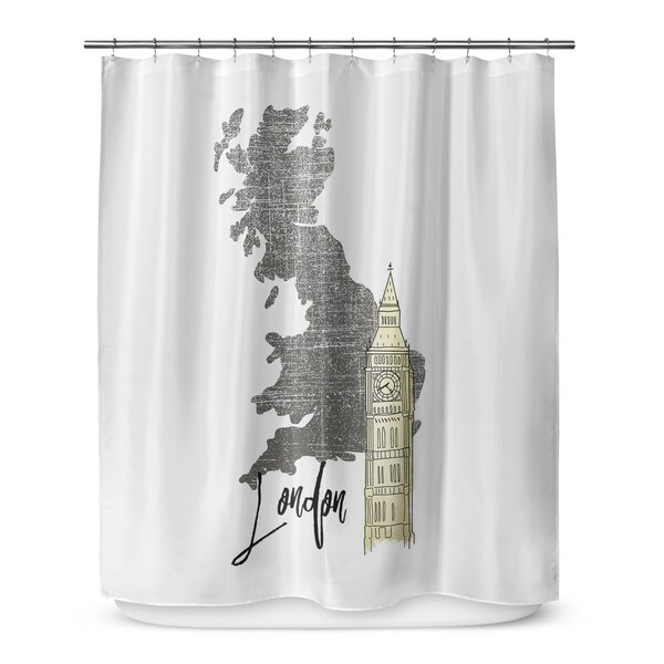 London 72 Shower Curtain by KAVKA DESIGNS