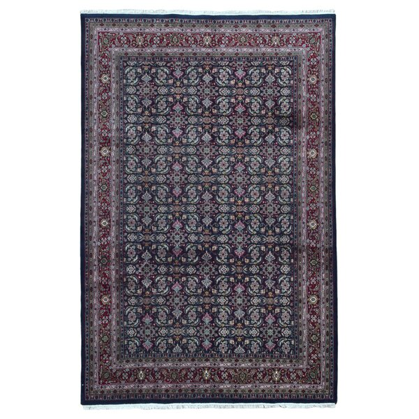 One-of-a-Kind Creange Hand-Woven Wool Navy/Red Area Rug by Isabelline