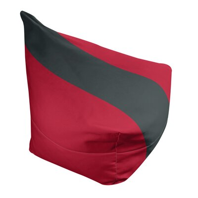 """Bean Bag Cover East Urban Home Fabric: Red/Steel Gray, Size: 42"""" H x 38"""" W x 2"""" D"""