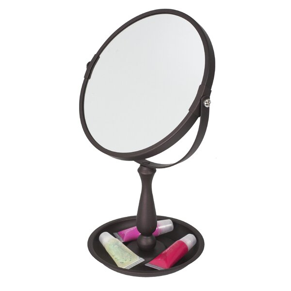 Integrated Tray Cosmetic Mirror by Home Basics