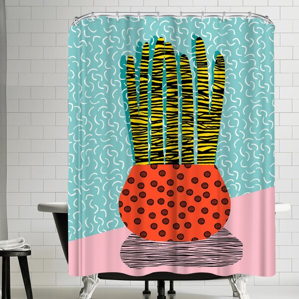 Wacka Designs Amped Shower Curtain by East Urban Home