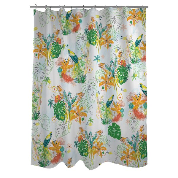 Tropical Bird Shower Curtain by One Bella Casa