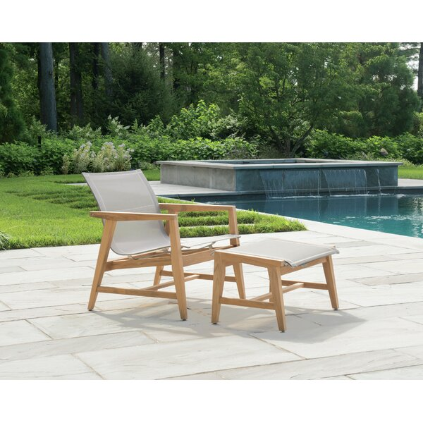 Marin Teak Patio Chair with Ottoman by Kingsley Bate